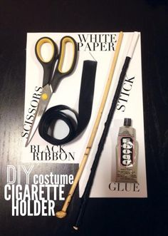 DIY cigarette holder. add a bit of class to your 1920's costume