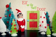 EASY DIY Elf on the shelf door gonna make a couple of these for around the house… – elf on the shelf ideas easy All Things Christmas, Christmas Holidays, Christmas Crafts, Christmas Decorations, Xmas Elf, Christmas 2019, Christmas Ideas, Merry Christmas, The Elf