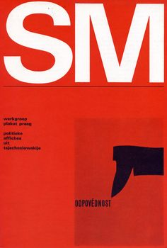 Wim Crouwel, Werkgroep Plakat Prag politieke affiches uit Tsjechoslowakije