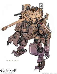 Nuthin' But Mech Site B: Introduction - Emerson Tung on Wookmark Character Concept, Character Art, Rpg Cyberpunk, Emerson, Arte Robot, Mekka, Robot Concept Art, Bd Comics, Anime Comics