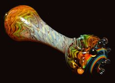 Glass Pipe 4 With Silver and 24k Gold Fuming and a by LaserGlass, $50.00