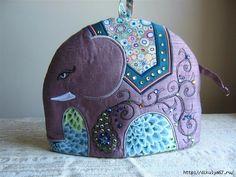 Elephant Tea Cosy/Tea Cozy Digital Pattern Make by RichardAndSon Tea Cosy Pattern, Teapot Cover, Free Motion Embroidery, Tea Cozy, Mug Rugs, Crochet Geek, Hand Crochet, Crochet Granny, Embroidered Silk