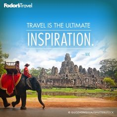 Travel is the ultimate inspiration. travel quotes