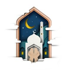 Ramadhan on Behance 3d Paper Art, Paper Artwork, Islamic Decor, Islamic Art, Poster Ramadhan, Ramadhan Quotes, Ied Mubarak, Ramadan Poster, Islamic Posters