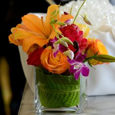 Eco Chic Floral Tropical Centerpiece