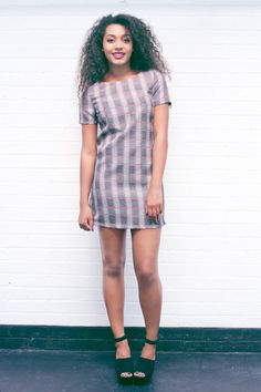 Our Lilian Prince Of Wales Check Shift Dress is ideal for Autumn/Winter and is easy to wear! Get yours now by visiting our website -  www.girlinmind.com/new/lilian-grey