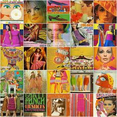 Collage of sixties ads.
