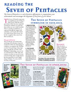 Reading the seven of pentacles