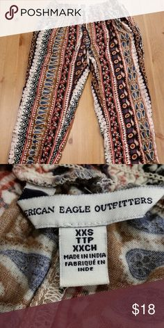 Patterned Joggers These pants are SO cute and comfy! Gently worn. American Eagle Outfitters Pants Track Pants & Joggers