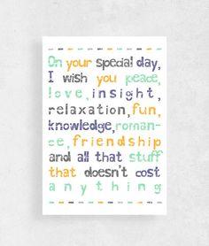 Happy birthday Birthday Cardboyfriend birthday by WeJustLikePrints #cardforfriends #funnybirthdaycard #Happybirthday #greetingcard #birthdaycard