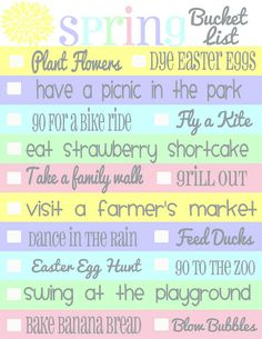 Spring Bucket List                                                                                                                                                                                 More