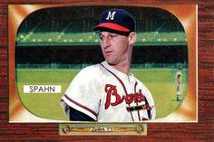 1955 Bowman Warren Spahn