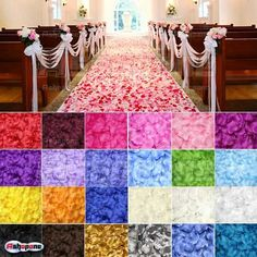 100pcs Silk Rose Flower Petals Leaves Wedding Table Decorations