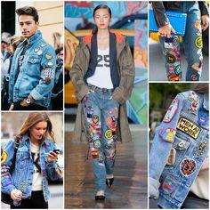 hufhaftendência patches no jeans moda fashion estilo
