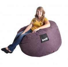 4 ft Plum Purple Foam Bean bag SLACKER sack like Love Sac Gaming chair with Microsuede Cover for Girls