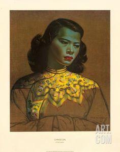 Chinese Girl Giclee Print by Vladimir Tretchikoff at Art.com