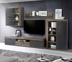 #wohnwand Cool Curtains, Curtains Living, Wall Shelves Design, Chair Bench, Storage Hacks, Decoration, The Unit, Pure Products, Living Room