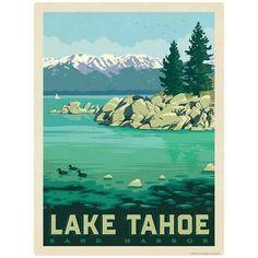 Lake Tahoe Nevada Sand Harbor Decal Peel and Stick Sand Harbor Lake Tahoe, Lake Tahoe Nevada, Vinyl Art, Vinyl Decals, Milwaukee Wisconsin, Las Vegas Nevada, Las Vegas Strip, Window Wall, New Hampshire