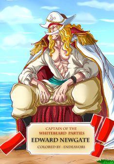 Edward Newgate Credits to One Piece Series, One Piece Chapter, Manga Anime One Piece, One Piece Fanart, Anime Character Drawing, Manga Drawing, Barba Blanca One Piece, Haki One Piece, Monkey D. Ruffy
