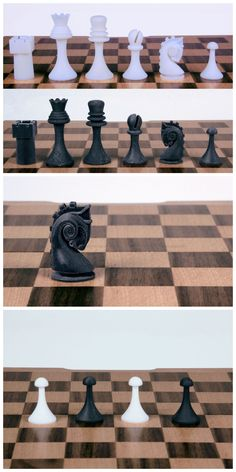 Readymake: Marcel Duchamp Chess Pieces (3D Recreations from Photographs) #3D_printing #board_game