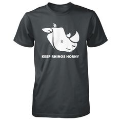 "Paul Blackthorne ""Keep Rhinos Horny"" Tee I've designed a new limited edition tee in support of Air Shepherd Initiative!  Only available for two weeks -- Paul  **WORLDWIDE SHIPPING**"
