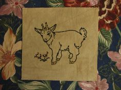 Golden Goat emboridered patch by MoonInTaurus on Etsy. I highly recommend you check out the whole Etsy store; it's full of treasures!