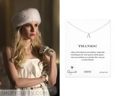 Emma Roberts wears this adorable Dogeared Necklace in Scream Queens. Buy it for less!