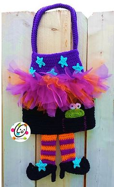 Wicked Tutu Bag crochet pattern from Snappy Tots. Makes a cute elf and doll too. How about a matching scarf?