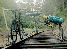 Bob Mellin cycling on abandoned railroads