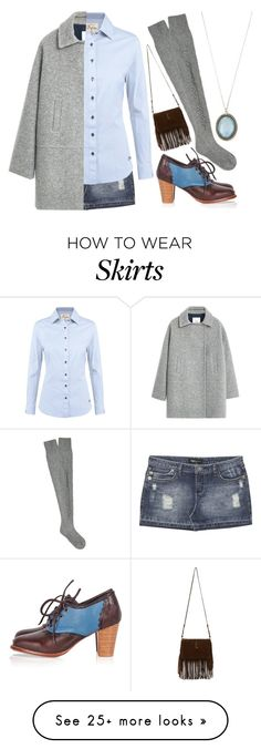 """""""Today's outfit!"""" by chalsouv on Polyvore featuring Wet Seal, DUBARRY, MANGO, Barrie, Armenta and Yves Saint Laurent"""