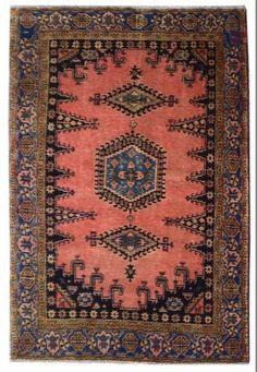 Vintage Persian Wiss Rug 7x5' Bedroom Rug Living Room Rug Dining Room Rug-Large Rug-SF Rugs