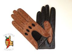 Men's lambskin leather classic driving gloves - VANDEN PLAS - size 9.5 (XL) #ThePepperGloves #DrivingGloves Lambskin Leather, Leather Men, Leather Driving Gloves, Men's Collection, Trending Outfits, Brown, Classic, Manual, Sewing