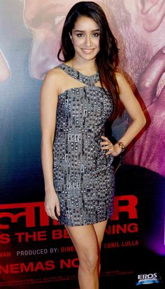 Shraddha Kapoor at the star-studded success bash of 'Badlapur'.