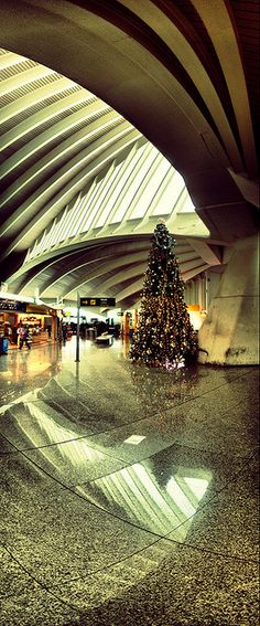 Christmas at Bilbao airport, Madrid, Spain Madrid, Airport Design, Valence, Seaside Resort, Grand Mosque, Basque Country, Balearic Islands, Built Environment, Tenerife