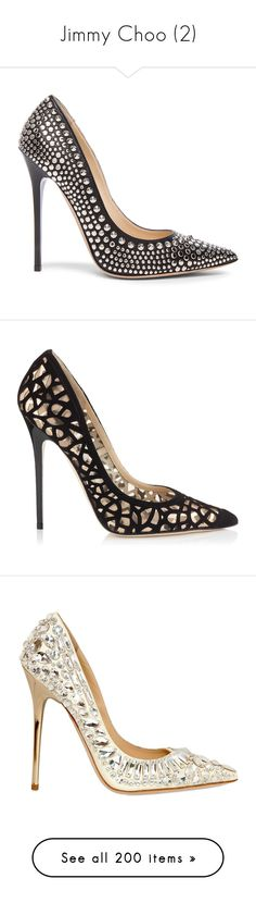 """Jimmy Choo (2)"" by bianca-cazacu ❤ liked on Polyvore featuring shoes, pumps, heels, jimmy choo, leather pumps, studded heel shoes, jimmy choo pumps, studded pumps, nude pumps and black leather shoes"