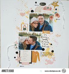 Scrapbooking Layout mit dem Januarkit | von Annette Beher für www.danipeuss.de #danipeuss #scrapbooking #memorykeeping #papercrafting #basteln Project Life, The Outsiders, Layout, Peace, Scrapbook, Kit, Inspiration, Winter, Movie Posters