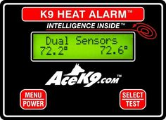 Major Police Supply offers K9 Transport Heat Alarm Unit with dual remote temperature sensors.