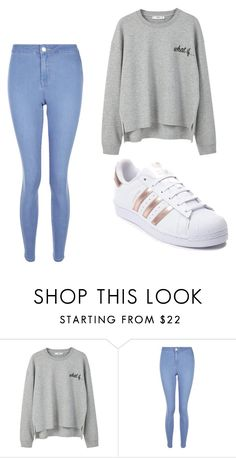 """""""Yes, my sister is stupid"""" by girlygirl12378 on Polyvore featuring MANGO, New Look and adidas"""