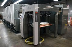 Taking from the other side of the Komori HUV G40 printer.