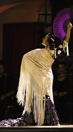 Flamenco dancer, bailaora, with fan, con abanico