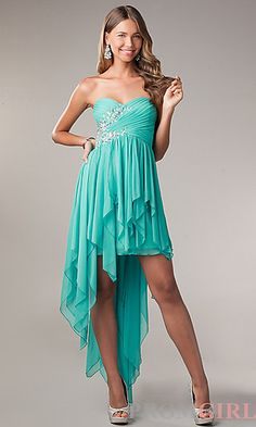 My Michelle High Low Strapless Prom Dress at PromGirl.com #prom #promtheme