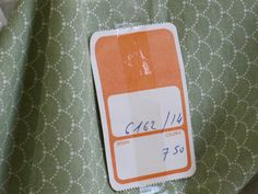 Vintage French Unused Green & White Cotton Fabric - 6 yards Available by VintageFrenchFinds on Etsy, $8.00 ***SOLD***