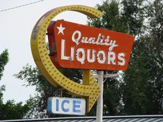 It's not so much that I like liquor stores but they seem to have some of the best old signs.  This is from Longmont, CO