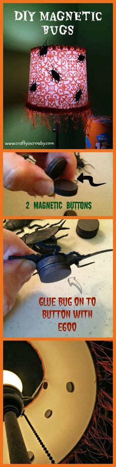 DIY Magnetic Bugs - Creepy Crawlers for Halloween! | #fall #autumn #decorating #decor #halloween #crafts #diy