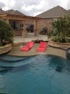 Image result for Private Pool with Tanning Ledge