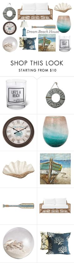 """The Beach House"" by marcie-vaneyck ❤ liked on Polyvore featuring interior, interiors, interior design, home, home decor, interior decorating, JS Candle Studio, Pearl Dragon, Serena & Lily and Pier 1 Imports"