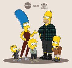 The Simpsons x Yeezy Season 2 x machonis Homer Simpson, Bart And Lisa Simpson, Simpson Wallpaper Iphone, Wallpaper Iphone Disney, The Simpsons, Yeezy Season 2, Man Wallpaper, Fire Art, Human Art