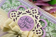 Close up of Miss You card designed by Becca Feeken