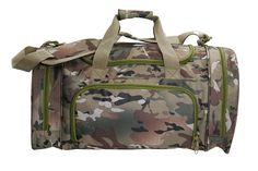 Camo Duffel Bag with Shoe or Wet Items Pocket (Large) -- You can find more details by visiting the image link.