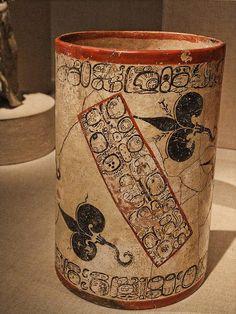 Water-Lily Vase Ah Maxam late Classic Maya vicinity of Naranjo Peten region Guatemala 750-800 CE Ceramic and pigment